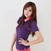 女款3M吸濕排汗POLO衫 素面POLO衫 紫色