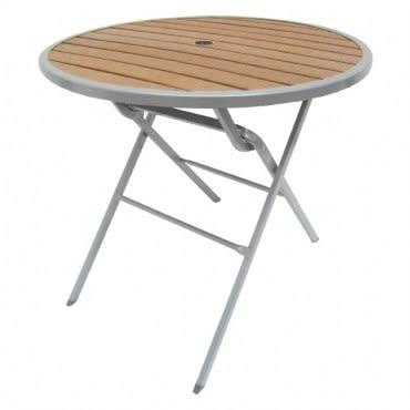 大衛科技塑木折合圓桌