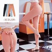 褲子 運動風素色側綁帶長褲-Ruby s 露比午茶