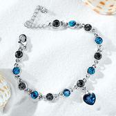 蘭廷飾佳韓版個性仿水晶手鏈時尚飾品水鉆手鏈時裝配飾流行禮物