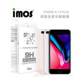 光華商場。包你個頭【imos】 iPhone 8 / 8 PLUS 系列 背面 全透 半版 玻璃 保護貼 康寧
