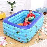充氣泳池 游泳池兒童充氣加厚家用超大成人兒童室內大型戲水池小孩寶寶游泳