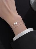 手錬925純銀lucky手鏈女學生 ins小眾設計感手飾疊戴多層高級感首飾品 優拓