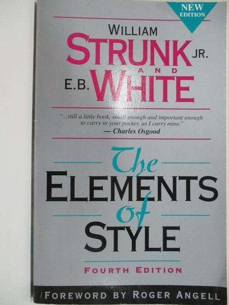 【書寶二手書T1/設計_BYZ】The Elements of Style_William Strink Jr.