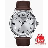 ◆TISSOT◆ GENT XL CLASSIC簡約大三針石英腕錶 T116.410.16.037.00 白x咖