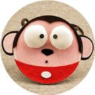 迷你小童小肩包  大眼猴  手工制作  想購了超級小物