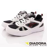 【DIADORA】輕量簡約慢跑鞋款-DA7AMR3938-黑白-男段-(現+預)