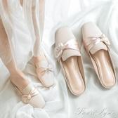 穆勒鞋 懶人包頭半拖鞋女夏外穿平底網紅涼拖百搭新款時尚穆勒半托鞋 中秋節全館免運