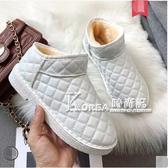 雪地靴女新款時尚一腳蹬棉鞋冬季平底加絨短靴學生短筒女靴子 Korea時尚記