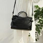 手提包-真皮-牛皮大容量復古公事包女側背包74av18[時尚巴黎]