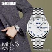 時刻美男士手錶非機械錶防水精鋼帶超薄男錶學生復古商務腕錶