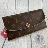 BRAND楓月 LOUIS VUITTON 路易威登 LV M64202 EMILIE 花朵造型 長夾 錢包 錢袋