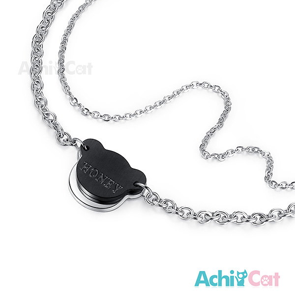 鋼手鍊 AchiCat 珠寶白鋼 幸福時刻 小熊 送刻字