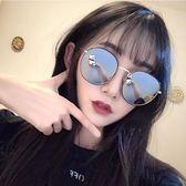 年終9折大促 2018新款墨鏡女圓臉韓版潮偏光太陽鏡女同款眼鏡粉色街拍夢想巴士