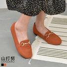 休閒鞋 雙圈金飾方頭平底鞋- 山打努SANDARU【037580#46】