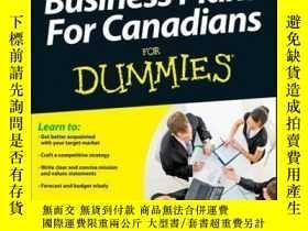二手書博民逛書店Business罕見Plans For Canadians for Dummies, 2nd EditionY