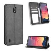 復古掀蓋殼 諾基亞 Nokia C2 手機殼 隱形磁釦 磁吸保護殼 NokiaC2 翻蓋皮套 支架插卡 手機套