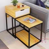 邊櫃 簡約沙發邊櫃客廳創意邊桌小茶幾長方形桌子多功能角幾【快速出貨】