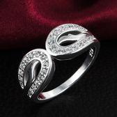 925純銀戒指鑲鑽-知性生日情人節禮物女配件73at55【巴黎精品】
