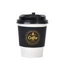 一次性咖啡杯紙杯帶蓋50套
