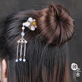 髮簪/裝飾 - 古風發梳插梳發簪子古典流蘇釵頭飾【韓衣舍】