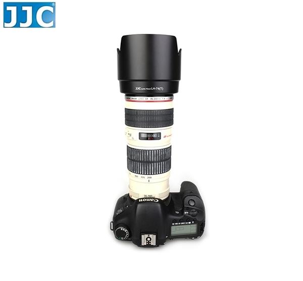 又敗家@黑JJC花瓣副廠Canon遮光罩ET-74遮光罩可倒扣同Canon原廠遮光罩ET74適EF 70-200mm小小黑F/4L IS USM F4L
