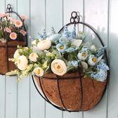 創意鐵藝花籃墻壁植物服裝店酒吧墻面掛件
