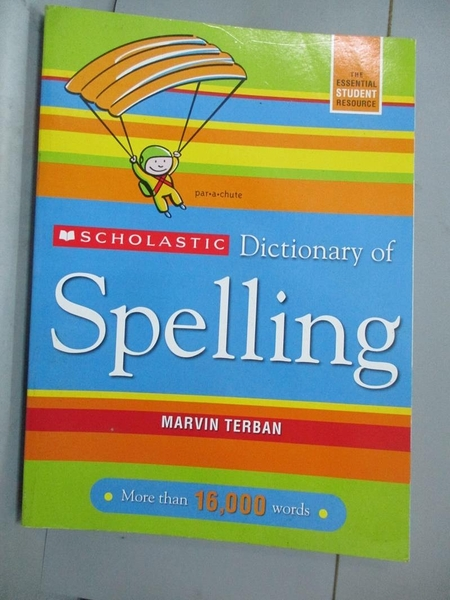 【書寶二手書T4/動植物_QJJ】Scholastic Dictionary of Spelling_Terban, M
