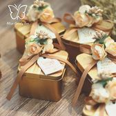 【6枚入】喜糖禮盒結婚糖果盒子鐵盒【奇趣小屋】