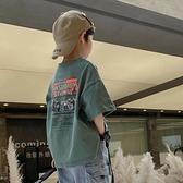 男童T恤 男童純棉t恤2021夏裝新款兒童短袖韓版寬松帥氣8歲小學生夏季上衣【快速出貨】