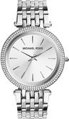 【台南 時代鐘錶 Michael Kors】MK3190 晶鑽都會風 鋼錶帶女錶 銀 32mm