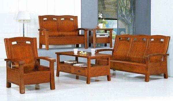 【新北大】H11-1 366型胡桃色組椅(1+2+3+大小茶几.附椅墊x6)-2019購