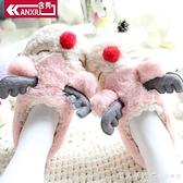 含秀秋冬新品居家棉鞋女棉拖鞋包跟防滑可愛卡通小鹿保暖情侶棉拖 美眉新品