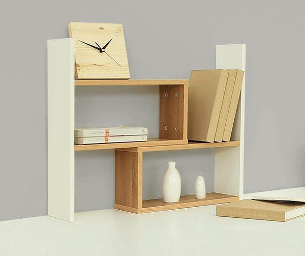 店慶一周 創意伸縮書架桌面書架桌上小型辦公桌收納置物架簡易書櫃電腦桌架