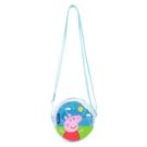 Peppa Pig 粉紅豬小妹 佩佩豬 童用迷你半透明側肩背包 藍