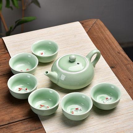 泡茶壺-陶瓷茶具套裝功夫茶具整套茶具冰裂茶杯茶壺茶道茶盤泡茶套裝家用 俏俏家居