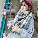 LULUS-D質感毛料格紋圍巾-9色  ...