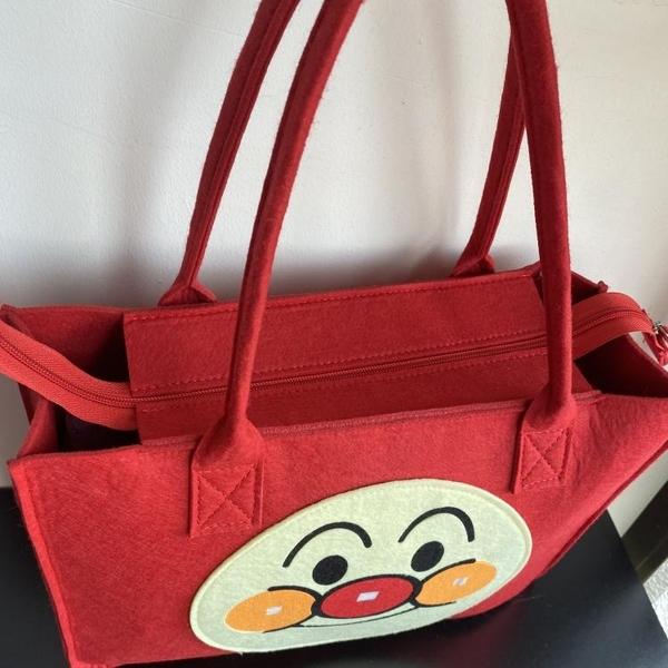 新款面包超人手提袋購物飯盒便當尿布收納學生補習毛氈媽咪包 韓國時尚週