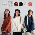 MIUSTAR 滾邊造型配色厚磅針織毛衣(共4色)【NH3168】預購