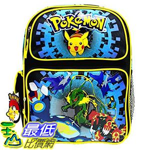 [美國直購] 神奇寶貝 精靈寶可夢周邊 Nintendo Pokemon B01IL4J29Q Pikachu Plusle & Minun 14吋 Canvas Black School