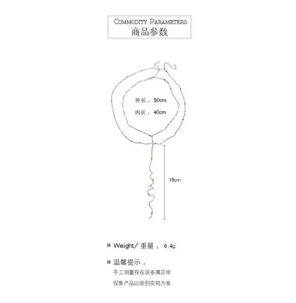 項鍊 森林系 金屬 亮片 雙層 Y形 鎖骨鏈 簡約 項鍊【DD1806079】 icoca  10/04