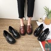 ins小皮鞋女秋季新款復古女鞋學生百搭英倫風單鞋子平底鞋潮 歌莉婭