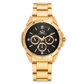 高檔鑲鉆全金手錶情侶款精鋼帶防水夜光石英錶《印象精品》p16