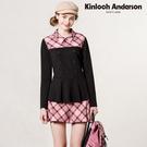 【Kinloch Anderson金安德森】品牌格紋粉紅格飾拉鍊活摺褲裙(粉紅) KA0772005