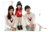 親子裝。冬季聖誕麋鹿圖樣式加絨加厚圓領長袖T恤 (男女童) *繪米熊童裝* (AI81013)