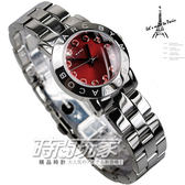 MARC JACOBS 精品錶 紅色晶鑽 MARC品牌時刻 紅色面 26mm 女錶 MBM3335 全鋼亮面處理