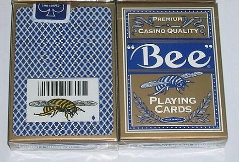 【USPCC 撲克】美國 92撲克牌 BUMBLE BEE(最高級premium) 金包裝 OHIO 絕版藍標