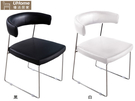 【UHO】皮皮餐椅(單件)/黑/免運送費HO18-761-3