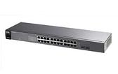 ◤全新品 含稅 免運費◢ (最新款V2出貨)ZyXEL GS1100-24 v3 超高速乙太網路交換器 (10/100/1000Mbps)