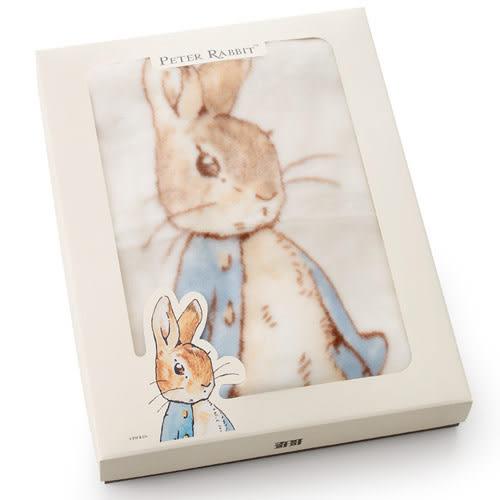 【奇哥】Peter Rabbit比得兔抗菌嬰兒帽帶毯 (米)